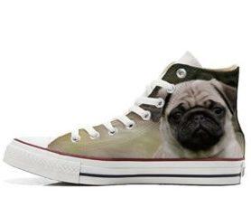 zapatos con dibujos de perros pug carlino