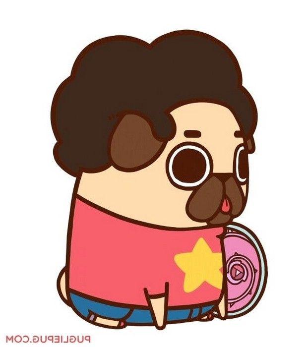 caricatura de perros pug