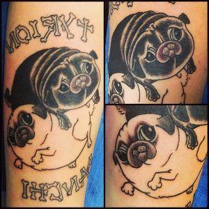 tatuajes perros pug