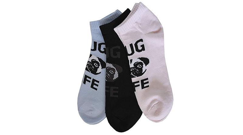 calcetines tobilleros de pug